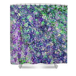 Purple And Green Cascade Shower Curtain