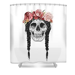 Festival Skull Shower Curtain