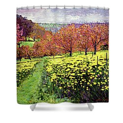 Fields Of Golden Daffodils Shower Curtain