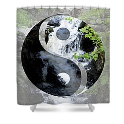 Find Your Balance Shower Curtain