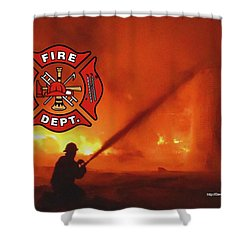 Fire Fighting 5 Shower Curtain