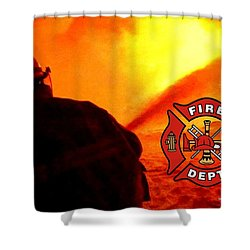Fire Fighting 6 Shower Curtain