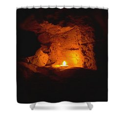 Shower Curtain featuring the photograph Fire Inside by Lucia Sirna