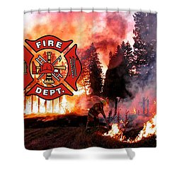 Firefighting 2 Shower Curtain
