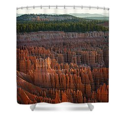 Shower Curtain featuring the photograph First Light On The Hoodoo Inspiration Point Bryce Canyon National Park by Nathan Bush