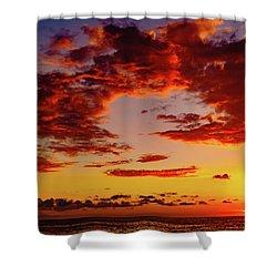 First November Sunset Shower Curtain