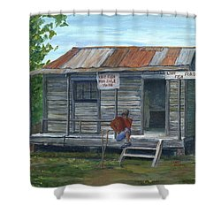 Fish Store, Natchitoches Parish, Louisiana Shower Curtain