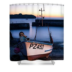 Fishing Boat In Mullion Cove Shower Curtain