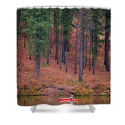 Fishing Fenton Lake Shower Curtain