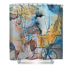 Fissures Shower Curtain