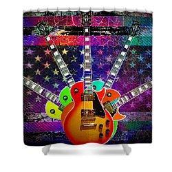 Five Guitars Shower Curtain