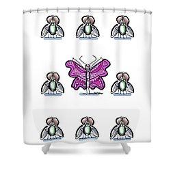 Flaunt It No. 3 Shower Curtain