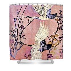 Flight Of The Cranes - Kimono Series Shower Curtain
