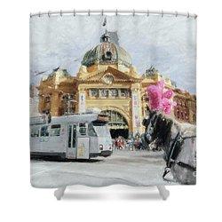 Flinders Street Station, Melbourne Shower Curtain