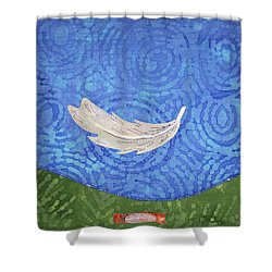 Floating Feather Shower Curtain