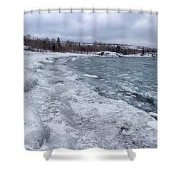 Floating Ice Shower Curtain