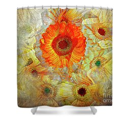 Shower Curtain featuring the digital art Floral Joy by Edmund Nagele