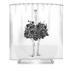 Floral Ostrich Shower Curtain