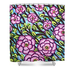 Floral Whimsy 3 Shower Curtain