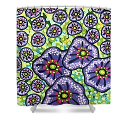 Floral Whimsy 4 Shower Curtain
