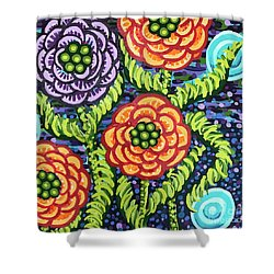 Floral Whimsy 5 Shower Curtain