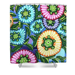 Floral Whimsy 6 Shower Curtain