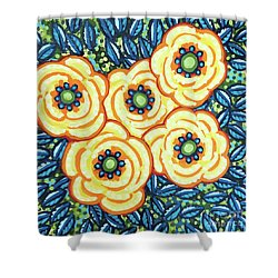 Floral Whimsy 7 Shower Curtain
