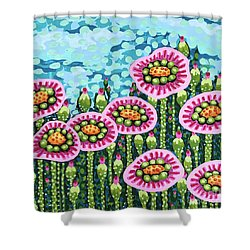 Floral Whimsy 8 Shower Curtain