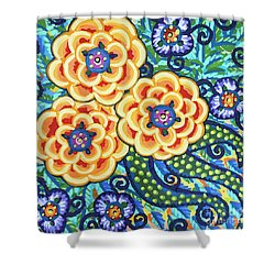 Floral Whimsy 9 Shower Curtain