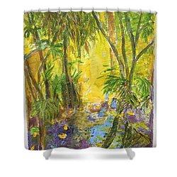 Florida Fauna Shower Curtain