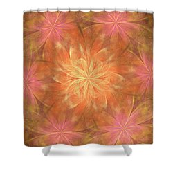 Shower Curtain featuring the digital art Flower Power by Angie Tirado