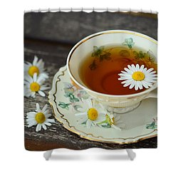 Flower Tea Shower Curtain