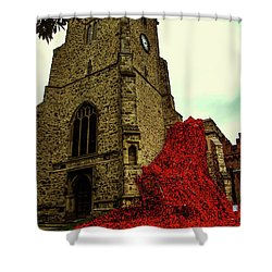 Flowing Poppies Shower Curtain