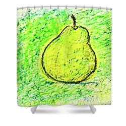 Fluorescent Pear Shower Curtain