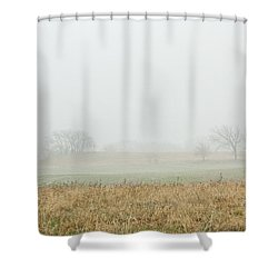 Foggy Country Morning Shower Curtain