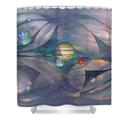 Folding Space Shower Curtain