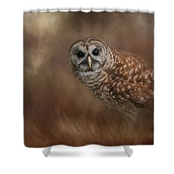 Foraging In The Field Shower Curtain