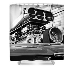 Ford Mustang Vintage Motor Engine Shower Curtain