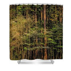 Forest Dogwood Shower Curtain