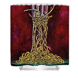 Fork To Mouth Shower Curtain