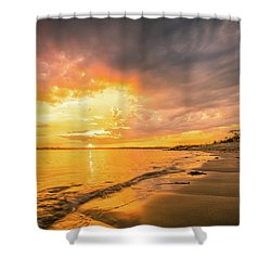 Fort Foster Sunset Watchers Club Shower Curtain
