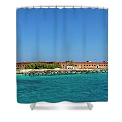 Shower Curtain featuring the photograph Fort Jefferson, Dry Tortugas National Park by Kay Brewer