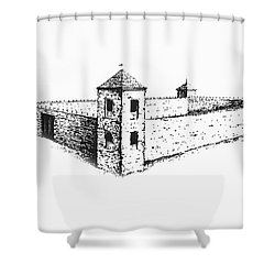 Shower Curtain featuring the photograph Fort St. Vrain by Jon Burch Photography