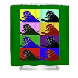 Foster Dog Pop Art Shower Curtain