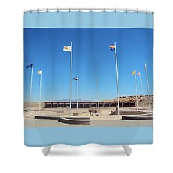 Four Corners Monument Shower Curtain