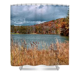 Framed Lake Shower Curtain