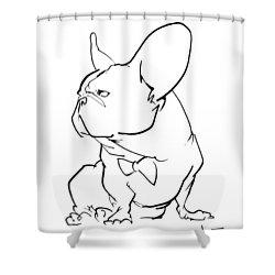 French Bulldog Gesture Sketch Shower Curtain