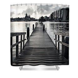 From The Solid Ground... Shower Curtain