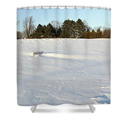 Frost Delay Shower Curtain