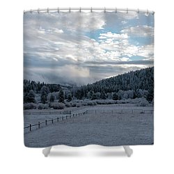 Frosted Sunrise 1 Shower Curtain